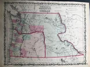 1861 Washington & Oregon. By Johnson