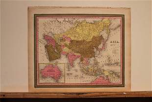 1847 Map of Asia