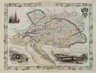 1851 Tallis Map of Austria -- Austria