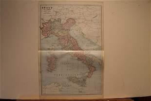 1899 Map of Italy and San Marino