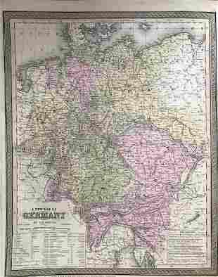 German States. 1850 by Thomas.
