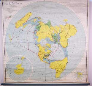 Rand McNally World Map for the Air Age