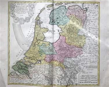 Netherlands. 1762 by Homann Heirs
