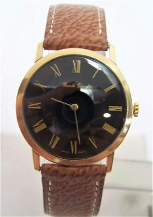 Solid Swiss Slim 18k BUECHE GIROD Winding Watch