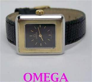 Ladies S/Steel & 14k OMEGA De VILLE Winding Watch 1970s