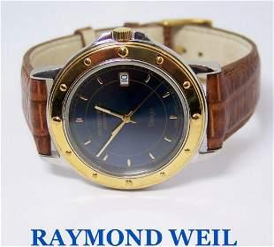 Mens S/Steel & 18k GP RAYMOND WEIL TANGO Slim Watch