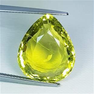 20.57 ct Natural Green Gold Quartz
