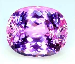 Kunzite Gemstone , Incredible Natural Pink Kunzite Cut
