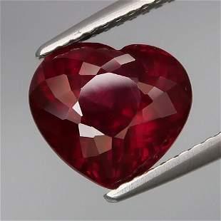 4.21Ct. Natural Cherry Red Rhodolite Garnet Africa