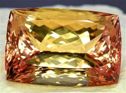 Bicolor Kunzite GEmstine , Peach Pink Kunzite cut stone