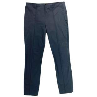 The Row Navy Cotton Pants, Size 4