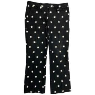 NO. 21 Black and White Cotton Star Pants, Size 44