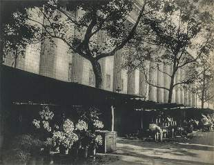 EUGENE ATGET - The Madeleine Flower Market