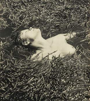 RAYMOND BOREL - Nude in Marsh Grasses