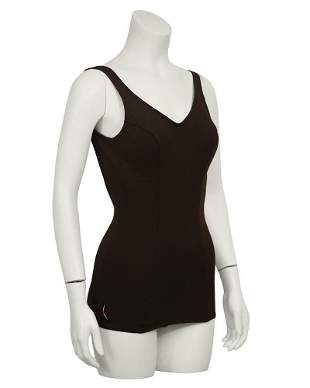 Anonymous Brown One-Piece Swimsuit