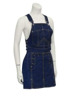 Jean Paul Gaultier Denim Bib and Mini Skirt