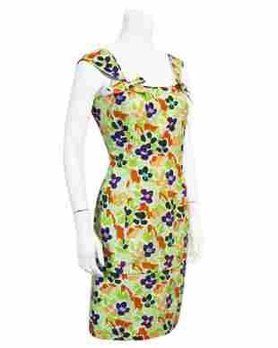 Ungaro Floral Cotton Cocktail Dress