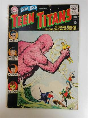 Brave and the Bold #60 2nd App. of the Teen Titans, 1st