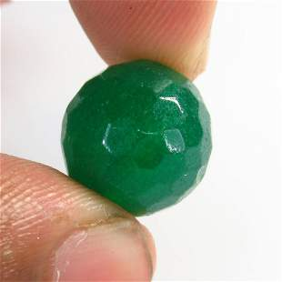 16.37 Ctw Natural Drilled Green Onyx Round Beads