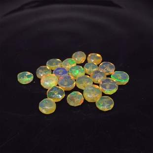 5.32 Ctw Natural 21 Drilled Faceted Fire Opal Beads