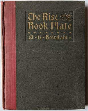 1901 THE RISE OF THE BOOK PLATE by WILLIAM GOODRICH