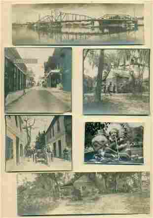 ca.1900s LOT of 6 TRAVEL SNAPSHOT s, ST. AUGUSTINE