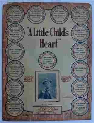 1920 LABOR UNION SONG, A LITTLE CHILD s HEART by BILLY