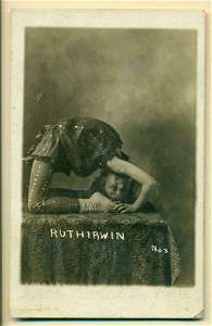 ca. 1910 COSTUMED CHILD CONTORTIONIST RUTH IRWIN in