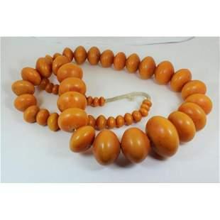 670g Baltic amber Bakelite art deco necklace vintage