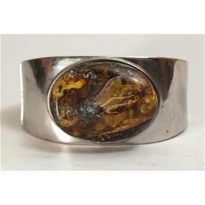 76g Vintage 100% natural Baltic amber bracelet button