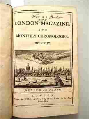 1744 Volume London Magazine Georgia