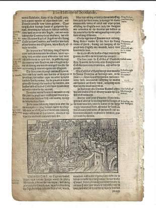 1577 Holinshed Leaf Battle Woodcut