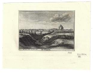 1665 Engraving Wenceslaus Hollar By Islington London