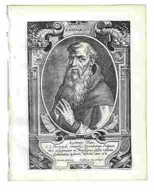 1634 Engraving Of Saint Guilielmus Galle