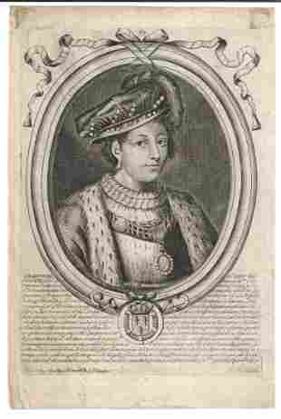 1690 Engraving of King Francois of France