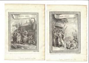 c1750 Three Engravings India Begum Saheb