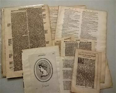 Lot of 16th C 17th C Leaves