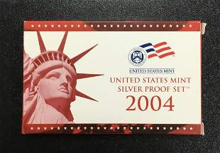 United States Mint ~ Silver Proof Set ~ 2004