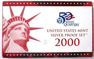United States Mint Silver Proof Set - 2000