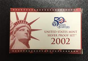 United States Mint ~ Silver Proof Set ~ 2002