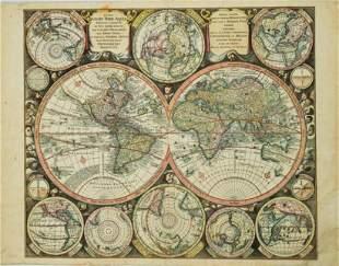 1730 Seutter World Map -- Diversi Globi Terr-Aquei