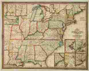 1832 Mitchell Map of the United States -- Mitchell's