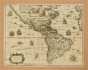 1631 c. Blaeu Map of the Americas -- Americae nova