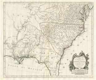 """""""Partie Méridionale de la Louisiane"""" Floride. SANTINI /"""