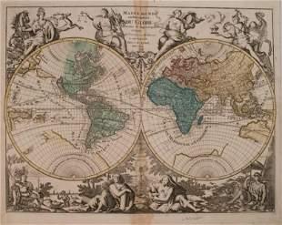 1792 Elwe World Map -- Mappe Monde ou Description du