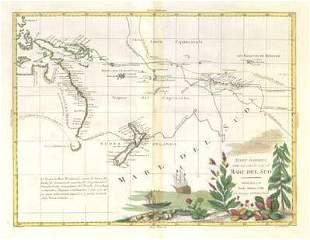 """""""Nuove scoperte Mare del Sud"""" Cook's voyages Pacific"""