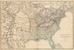 CIVIL WAR USA showing Union Confederate & Border