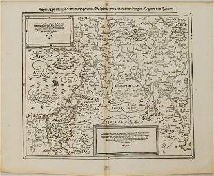 1598 Munster Map of the Middle East -- Syria / Cypern /