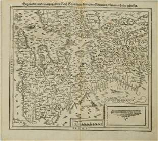 1598 c. Munster Map of the British Isles -- Engellandt