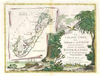 """""""Le Colonie Unite dell America Settentrale"""". Bermuda."""